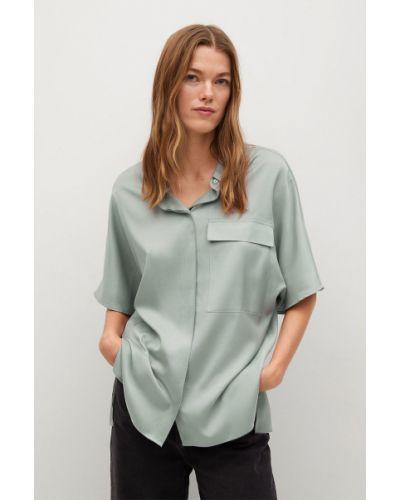 Koszula krótki rękaw - turkusowa Mango