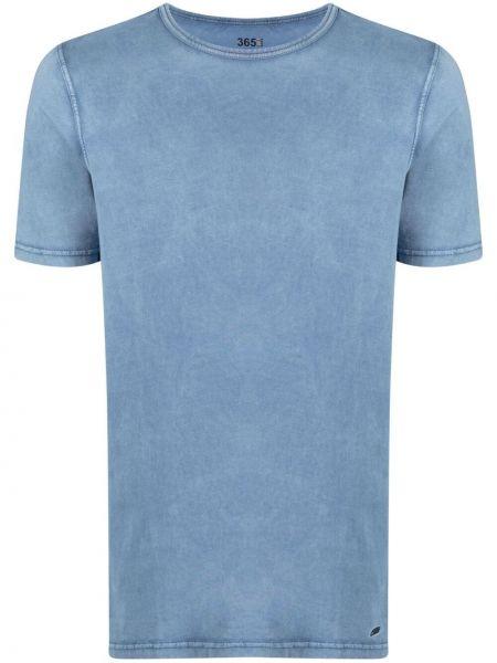 Прямая синяя футболка с вырезом Boss Hugo Boss