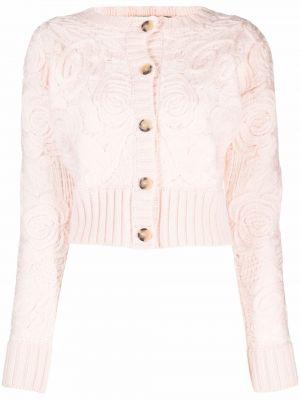 Розовая шерстяная кардиган Blumarine