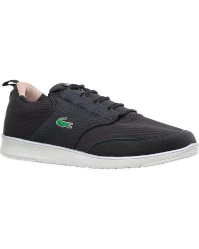 Черные кроссовки резиновые Lacoste