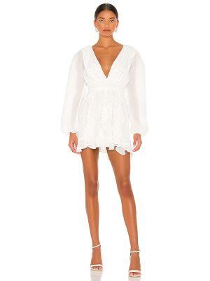 Biała sukienka srebrna Nbd