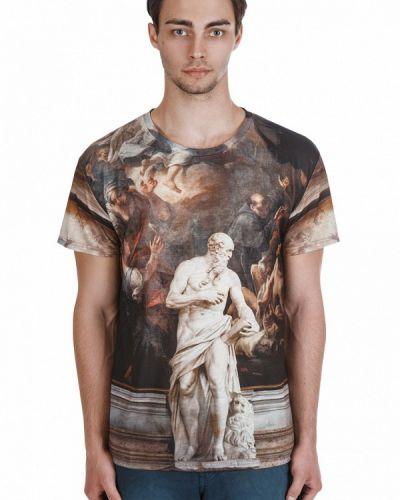 Коричневая футболка Fusion