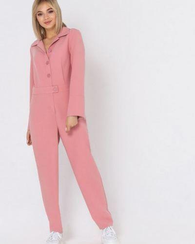 Хлопковый костюмный розовый комбинезон Vovk