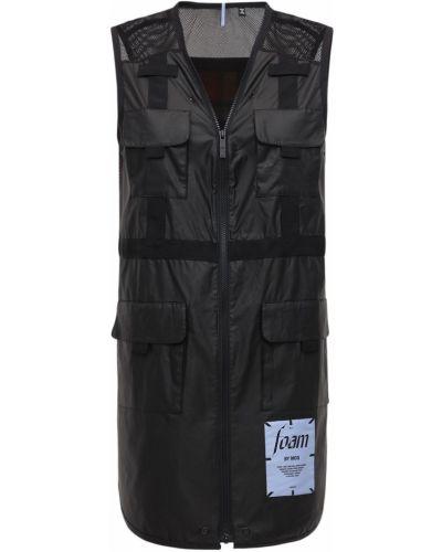 Платье на молнии - черное Mcq