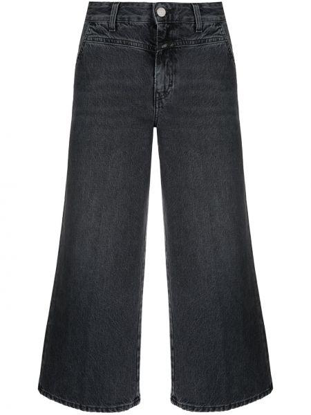 Расклешенные серые укороченные джинсы на пуговицах Closed