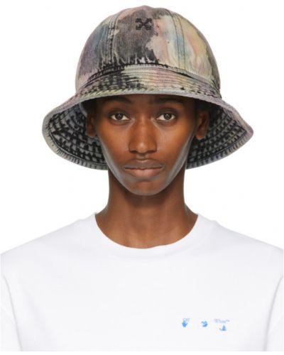 Хлопковая черная шапка с карманами Off-white