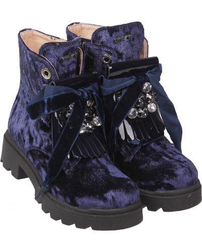 Синие ботинки Unisa
