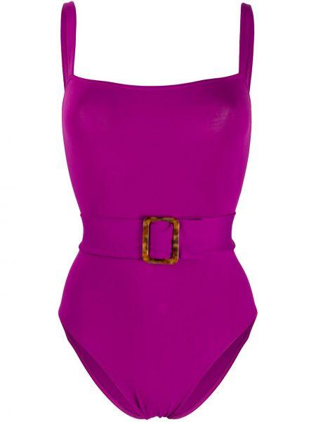 Фиолетовый купальник с вырезом квадратный Eres
