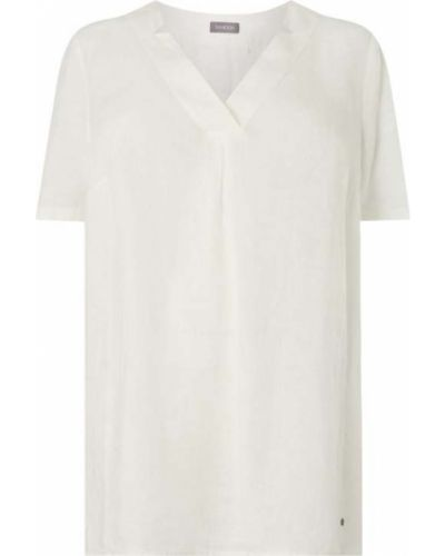 Biała bluzka krótki rękaw z dekoltem w serek Samoon