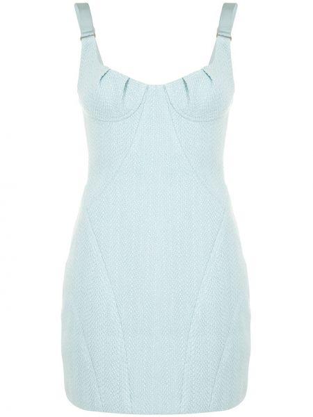 Приталенное платье мини без рукавов с вырезом на молнии Manning Cartell