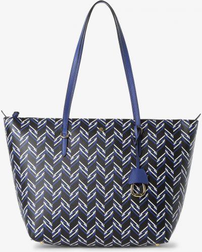 Niebieska torebka Lauren Ralph Lauren