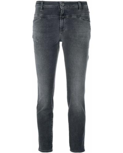 Укороченные джинсы с низкой посадкой на пуговицах Closed