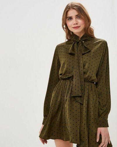 Платье зеленый хаки Ribbon
