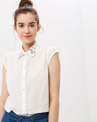 Рубашка с коротким рукавом белая Naf Naf