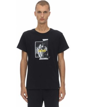 Czarny t-shirt bawełniany z printem Dim Mak Collection