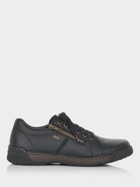 Кожаные полуботинки - черные Rieker