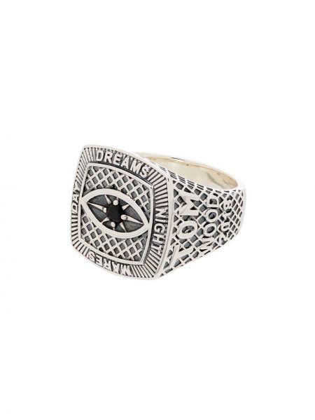 Srebro pierścień metal Tom Wood