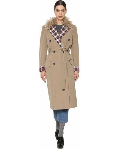 Пальто с поясом - бежевое Isa Arfen
