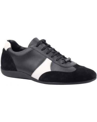 Черные кроссовки замшевые Ermenegildo Zegna