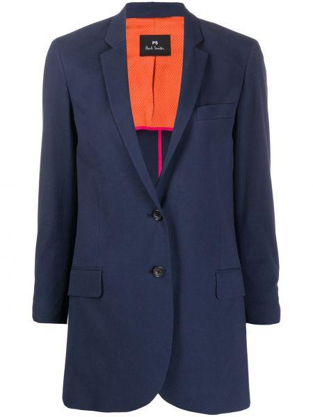 Темно-синяя длинная куртка Ps Paul Smith