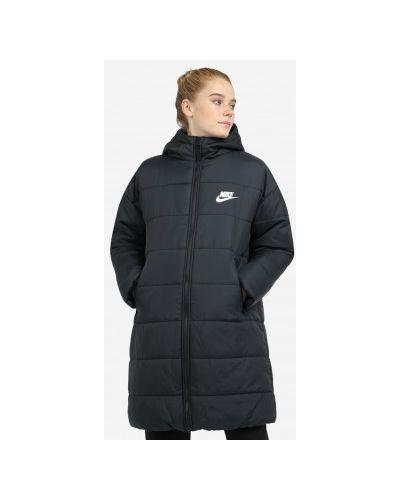 Черная куртка удлиненная Nike