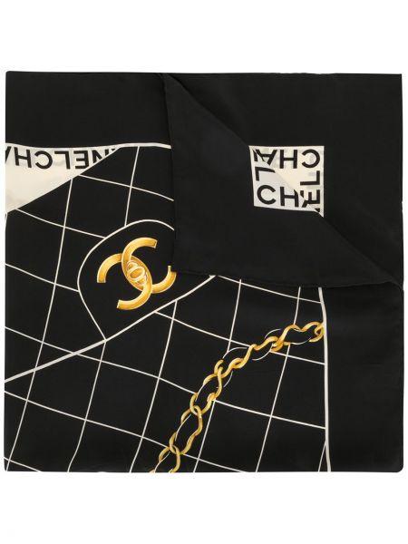 Jedwab biały szalik przycięte Chanel Pre-owned