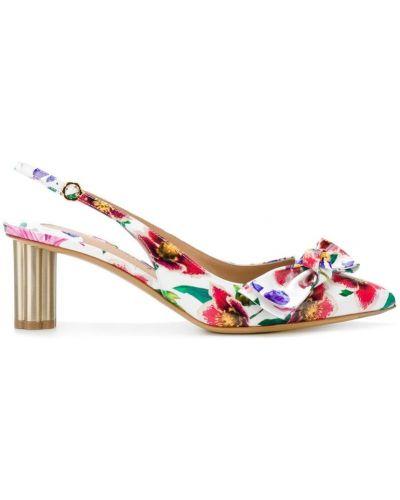 Туфли-лодочки с открытой пяткой с бантом Salvatore Ferragamo
