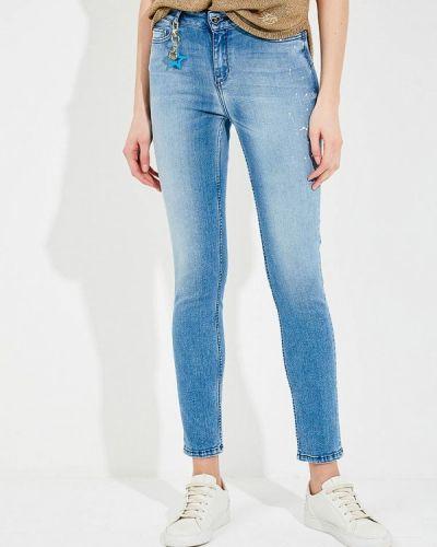 Синие джинсы-скинни Twin-set Simona Barbieri