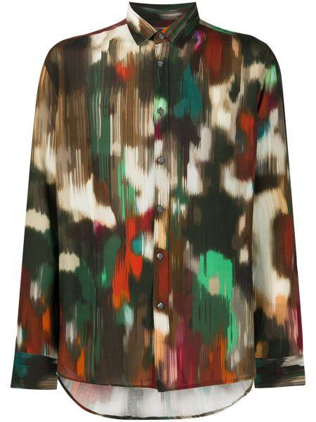 Koszula z długim rękawem klasyczna piasek Grey Daniele Alessandrini
