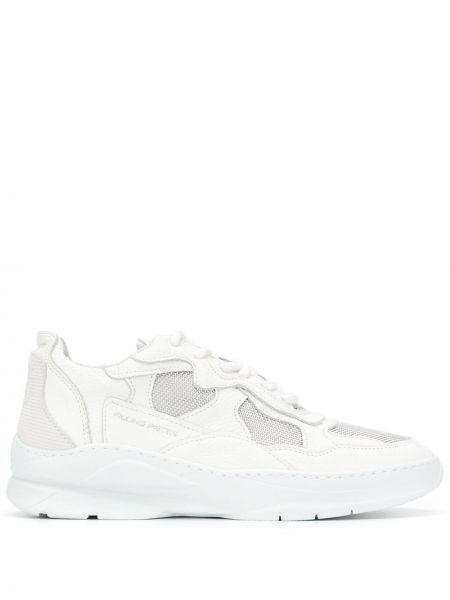 Białe sneakersy skorzane sznurowane Filling Pieces