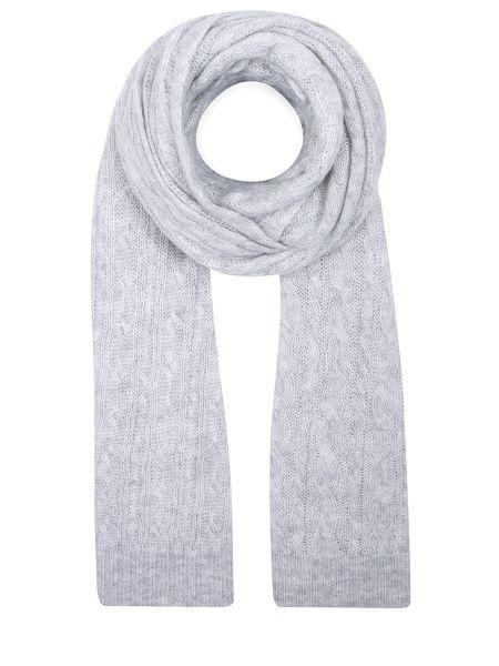 Шелковый серый классический шарф прямоугольный Malo