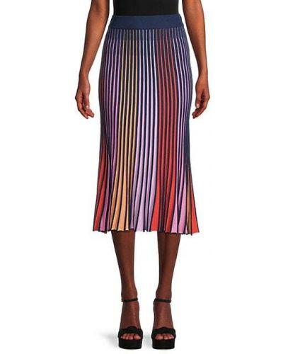 Плиссированная юбка в полоску из вискозы 525 America