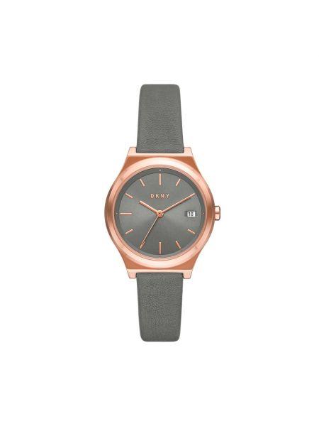 Szary złoty zegarek Dkny