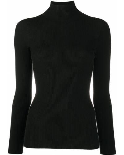 С рукавами шерстяной черный джемпер Gentry Portofino