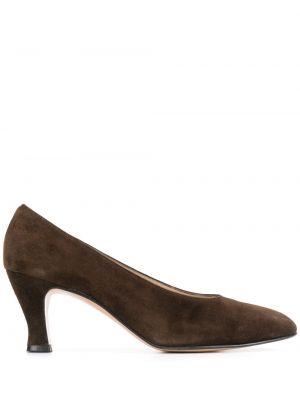 Коричневые туфли-лодочки на каблуке Salvatore Ferragamo Pre-owned