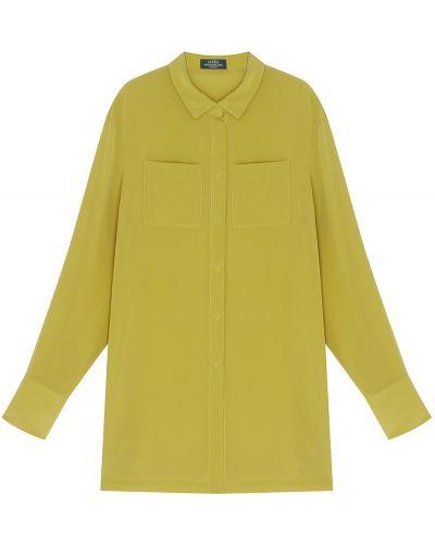 Желтая шелковая блузка трапеция Alena Akhmadullina