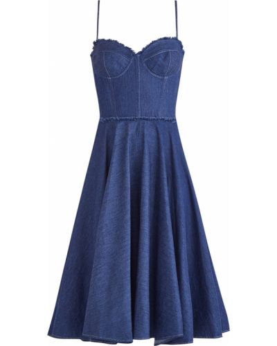 Платье миди с бахромой платье-солнце Ermanno Ermanno Scervino