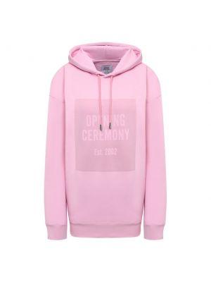 Хлопковое худи - розовое Opening Ceremony