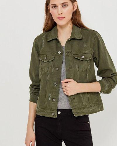 Джинсовая куртка весенняя зеленая Fascinate