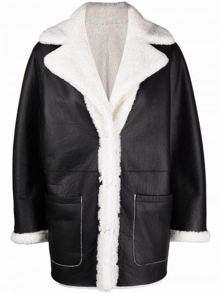 Черная длинная куртка Simonetta Ravizza