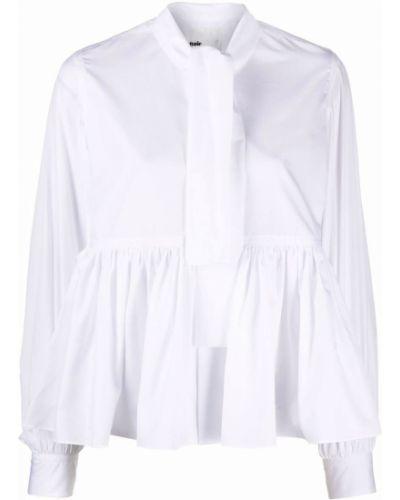 Белая блузка на пуговицах с длинными рукавами Comme Des Garçons Noir Kei Ninomiya