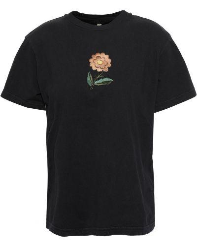 Czarna t-shirt krótki rękaw Alexachung