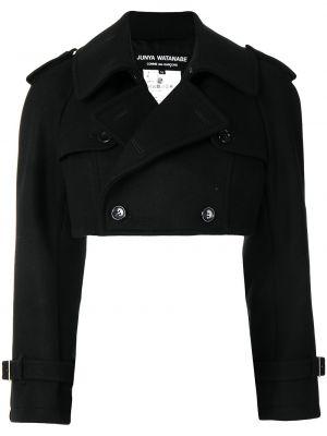 Шерстяной черный пиджак двубортный Junya Watanabe