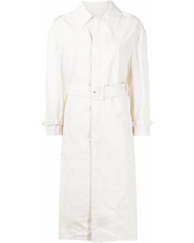 Klasyczny biały długi płaszcz z długimi rękawami Palto