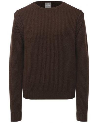 Коричневый кашемировый свитер Ftc