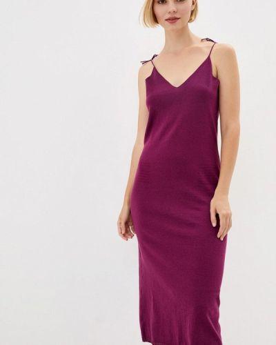 Прямое фиолетовое платье Nataclub