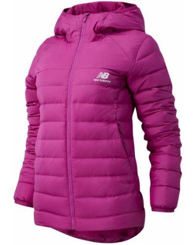 Теплая розовая пуховая куртка New Balance