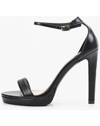 Кожаные черные босоножки Diora.rim