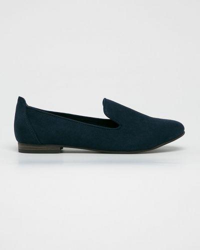 Темно-синие текстильные мокасины Marco Tozzi