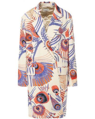 Пальто с запахом с принтом Dries Van Noten